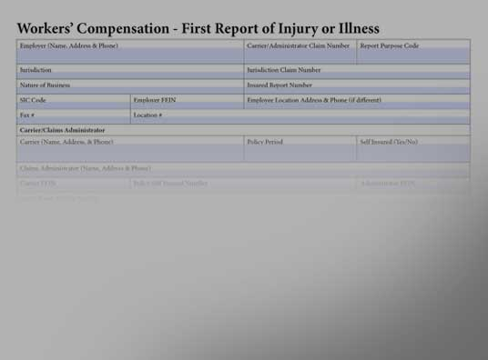 Workers Compensation First Report