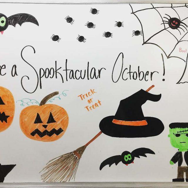 A little whiteboard action babbinc halloween october spooky livewell
